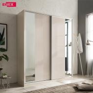 [EB] 밀크티 하이그로시 슬라이딩 싱글장(거울도어/1800)