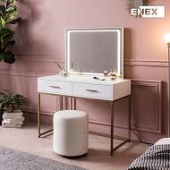 [EB] 디바 골드스틸 화장대 세트 (LED조명 거울)