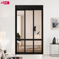 [EHI] 샤인 브론즈 디바이드 슬림도어 3연동 아파트 현관중문 (1,100~1,400)