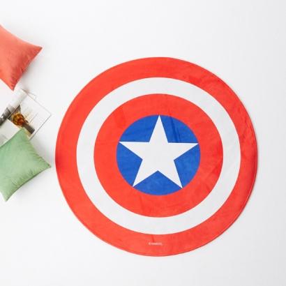 마블 모티브 라운드 러그 (캡틴아메리카 방패 100)