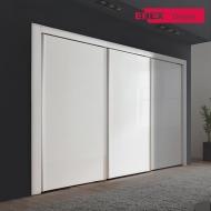 [EB] 플레인 화이트글로시 슬라이딩 장롱-207cm