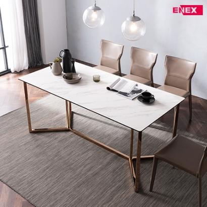 [EKD/오븟] 킨트 6인용 이태리 세라믹식탁(골드도금/의자제외)