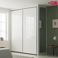 [EW] 로얄 작은방 슬라이딩 붙박이장(화이트 하이그로시)-1670~1800mm