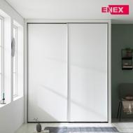 [EW] 코튼 작은방 슬라이딩 붙박이장(화이트무광/거울포함)-1430~1550mm