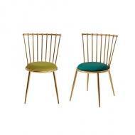[엘린까사] 1+1 NEW 크라운 마카롱의자 고급 스테인레스의자 인테리어 카페 식탁 화장대 디자인 체어