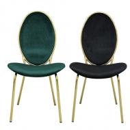 [엘린까사] 1+1 런칭 한정특가! 클레오파트라 리뉴얼 골드체어 벨벳의자 화장대의자 예쁜 인테리어의자
