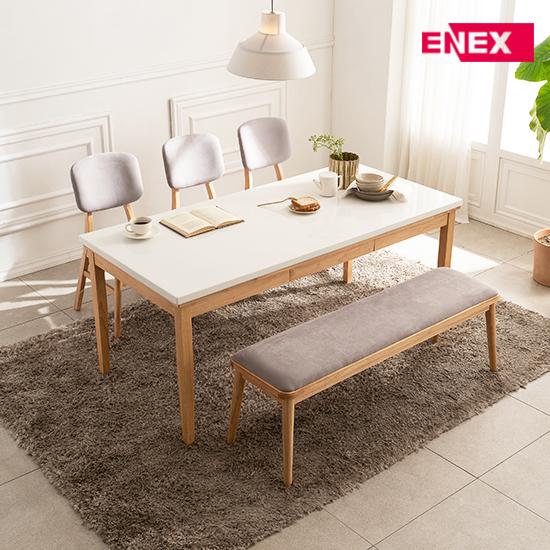 [EKD] 티파니 6인용 대리석 식탁세트(의자3+벤치1)