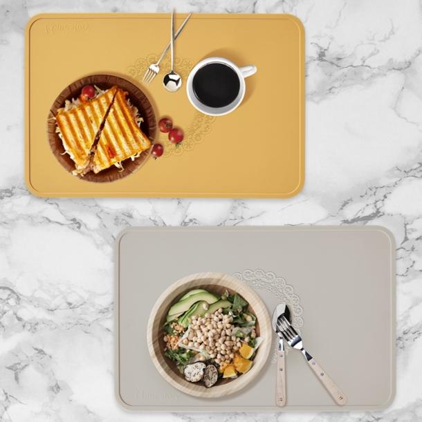 국내산 실리콘 미끄럼방지 방수기능 식탁매트 테이블매트 2type 9color 2인세트
