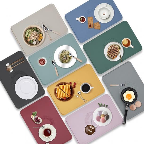 국내산 실리콘 미끄럼방지 방수기능 식탁매트 테이블매트 2type 9color 3인세트
