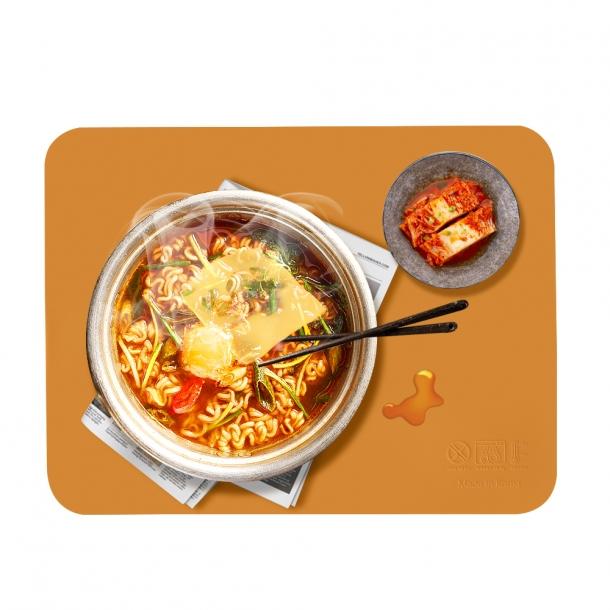 국내생산-kcc소재 실리콘 식탁 매트 (사각) 3개 set