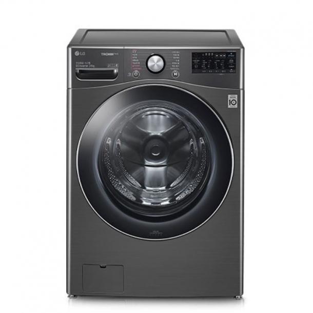 LG전자 트롬 24kg 드럼 세탁기 블랙 스테인리스 색상 F24KDD