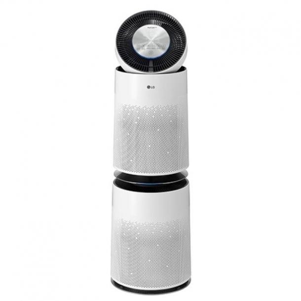 LG 퓨리케어 360˚ 공기청정기 플러스 크리미 스노우 색상 2단 AS301DWFA