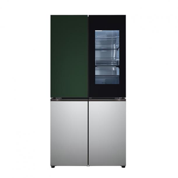 LG 오브제컬렉션 냉장고 노크온 매직스페이스 그린 실버 색상 M870SGS451