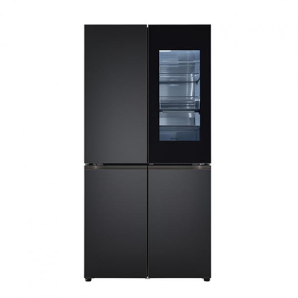 LG 오브제컬렉션 냉장고 노크온 매직스페이스 맨해튼 미드나잇 색상 M870SMM451