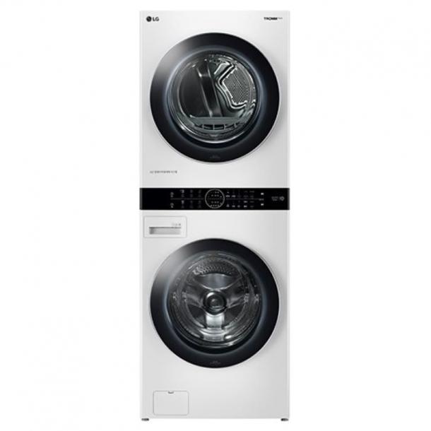 LG 트롬 워시타워 원바디세탁기(건조기+세탁기 일체형) 릴리화이트 색상 W17WT