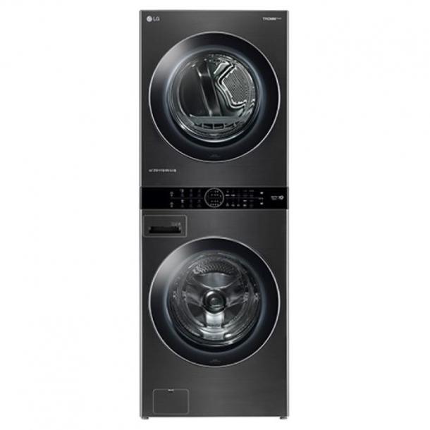 LG 트롬 워시타워 원바디세탁기(건조기+세탁기 일체형) 스페이스블랙 색상 W17KT