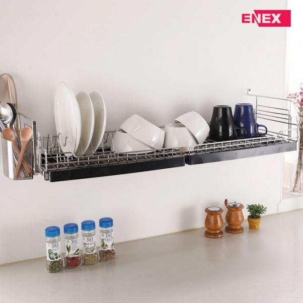 [에넥스] 에넥스 벽부착식 식기건조대 싱크대선반 800 블랙