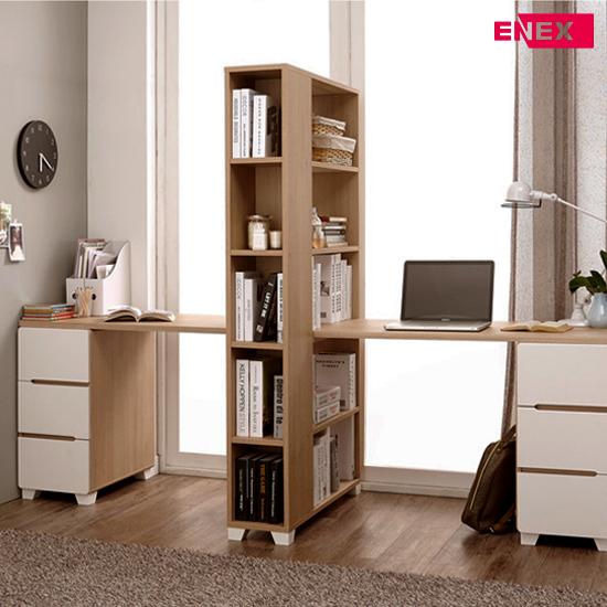 [EC] 만다린 2인용 책상+책장세트